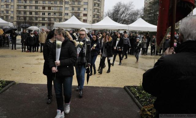 Cérémonie Place Paul Mistral Grenoble