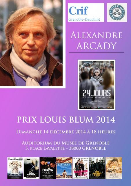Affiche prix Louis Blum 2014